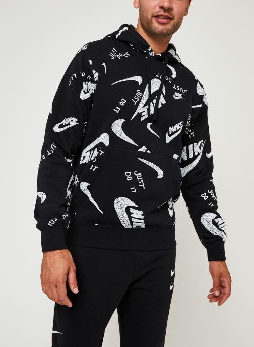 Vêtements Nike M Nsw Club Hoodie Po Bb Aop 1 Noir vue détail/paire