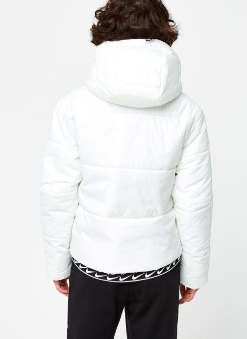 Vêtements Nike W Nsw Syn Fill Jkt Hd Blanc vue portées chaussures