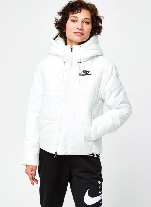 Vêtements Nike W Nsw Syn Fill Jkt Hd Blanc vue droite