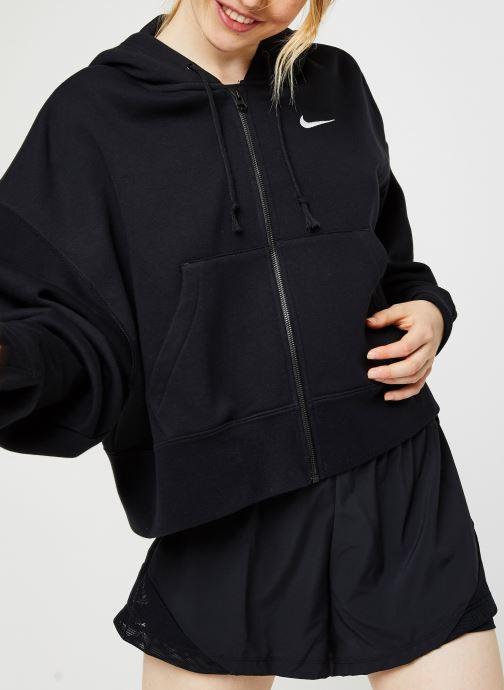 Vêtements Nike W Nsw Fz Flc Trend Noir vue droite