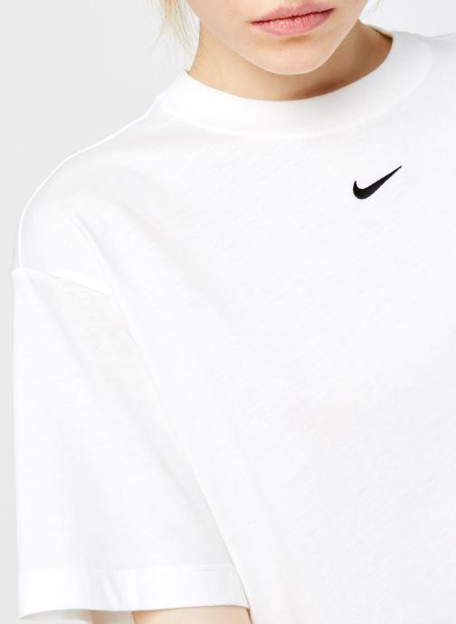 Vêtements Nike W Nsw Essntl Top Ss Bf Blanc vue face