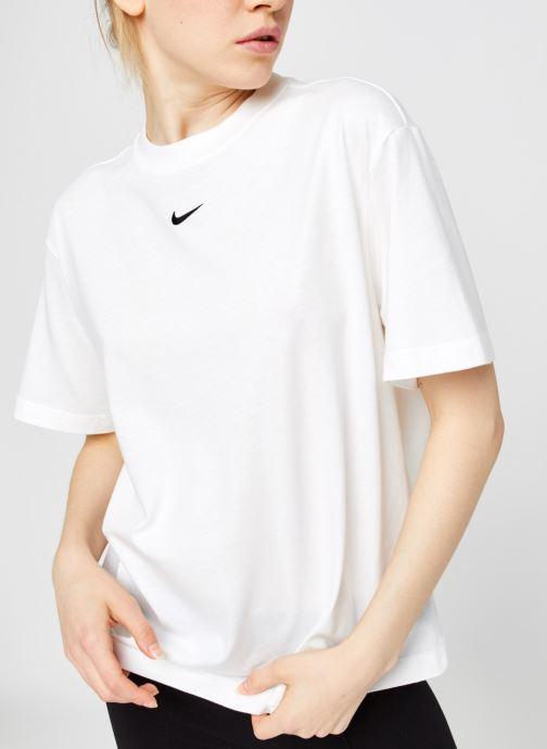 Vêtements Nike W Nsw Essntl Top Ss Bf Blanc vue détail/paire