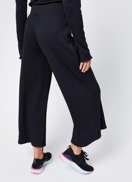 Vêtements Nike W Nsw Pant Rib Femme Noir vue portées chaussures