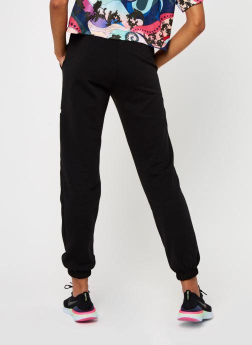 Vêtements Nike W Nsw Swsh Pant Flc Bb Noir vue portées chaussures