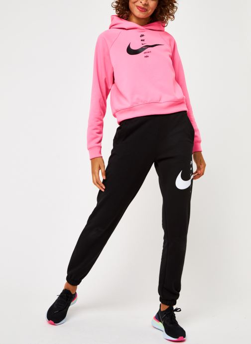 Vêtements Nike W Nsw Swsh Hoodie Flc Bb Rose vue bas / vue portée sac