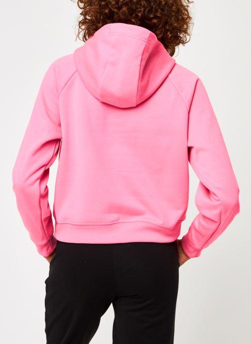 Vêtements Nike W Nsw Swsh Hoodie Flc Bb Rose vue portées chaussures