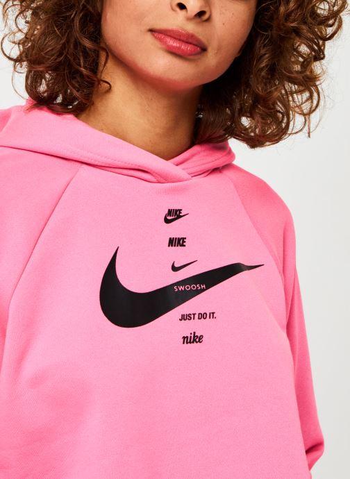 Vêtements Nike W Nsw Swsh Hoodie Flc Bb Rose vue face