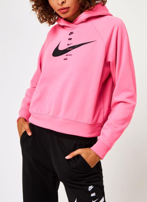 Vêtements Nike W Nsw Swsh Hoodie Flc Bb Rose vue droite
