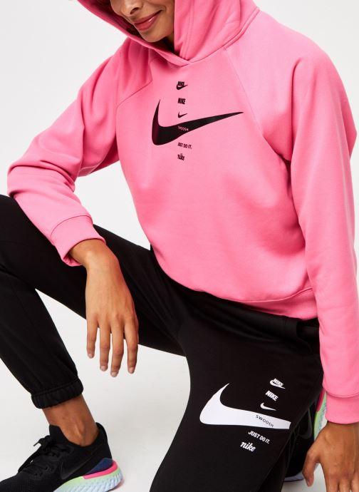 Vêtements Nike W Nsw Swsh Hoodie Flc Bb Rose vue détail/paire