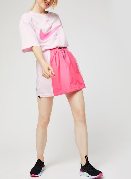 Vêtements Nike W Nsw Icn Clsh Skirt Wvn Rose vue bas / vue portée sac