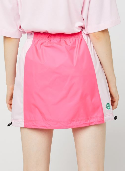 Vêtements Nike W Nsw Icn Clsh Skirt Wvn Rose vue portées chaussures
