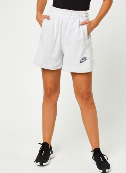 Vêtements Nike W Nsw Short Ft M2Z Gris vue détail/paire