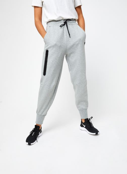 Vêtements Nike W Nsw Tch Flc Pant Hr Gris vue détail/paire