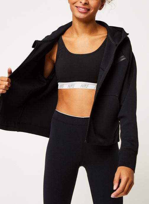 Kleding Nike W Nsw Tch Flc Wr Hoodie Fz Zwart detail