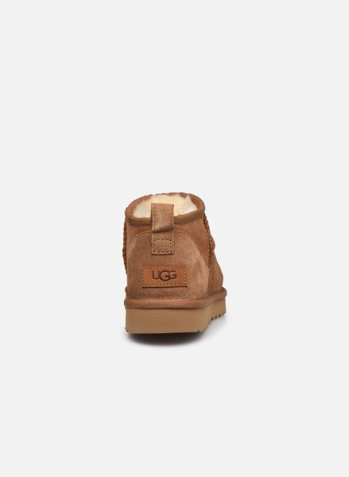 Stivaletti e tronchetti UGG Classic Ultra Mini Marrone immagine destra