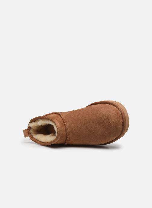 Stivaletti e tronchetti UGG Classic Ultra Mini Marrone immagine sinistra