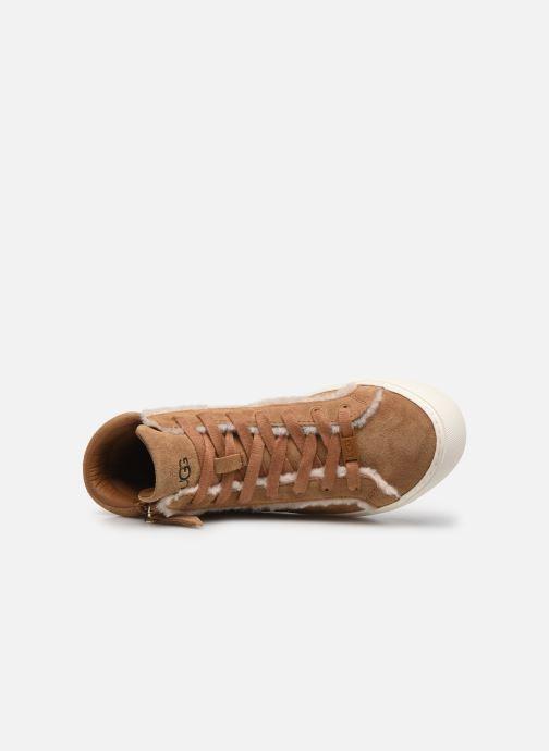 Sneaker UGG Olli Heritage braun ansicht von links