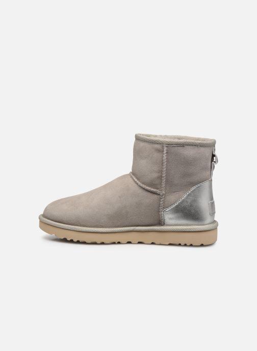 Stiefeletten & Boots UGG Classic Mini II Metallic grau ansicht von vorne