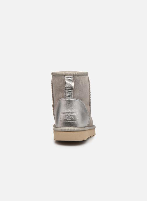 Stiefeletten & Boots UGG Classic Mini II Metallic grau ansicht von rechts