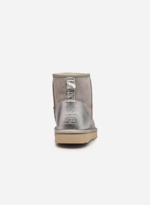 Bottines et boots UGG Classic Mini II Metallic Gris vue droite