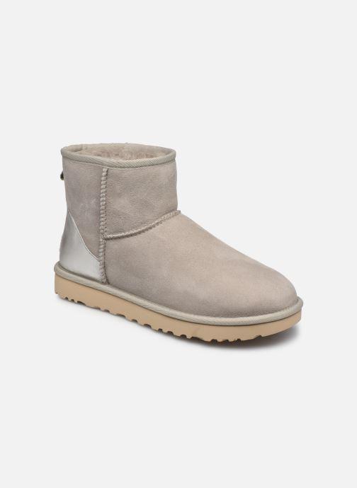 Bottines et boots UGG Classic Mini II Metallic Gris vue détail/paire