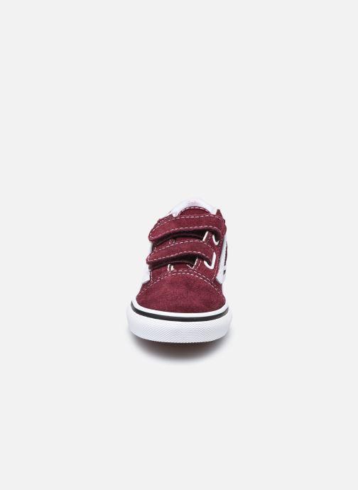 Baskets Vans TD Old Skool V Bordeaux vue portées chaussures