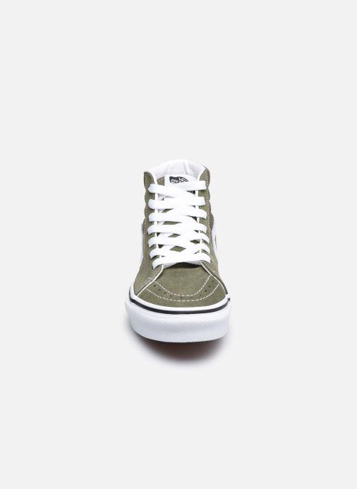 Baskets Vans UY Sk8-Hi Vert vue portées chaussures