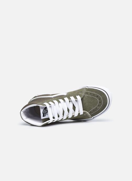Sneakers Vans UY Sk8-Hi Grøn se fra venstre