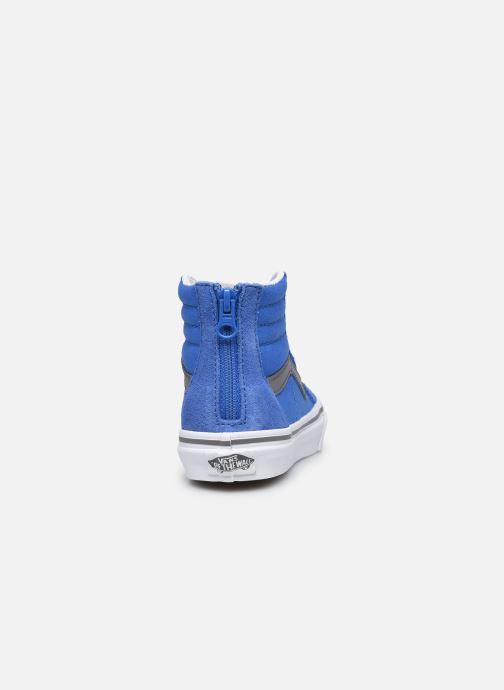 Baskets Vans UY SK8-Hi Zip Bleu vue droite