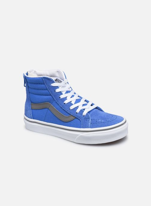 Baskets Vans UY SK8-Hi Zip Bleu vue détail/paire
