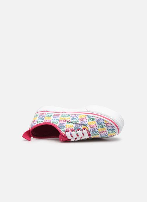 Sneaker Vans UY Authentic Elastic Lace weiß ansicht von links