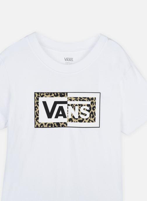 Vêtements Vans SPLIT LEOPARD Blanc vue face
