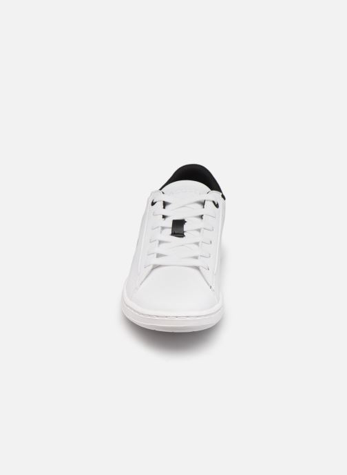 Baskets Lacoste Carnaby Evo 0120 2 Blanc vue portées chaussures