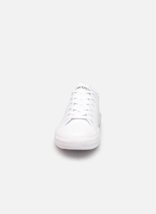 Baskets Lacoste GRIPSHOT 0120-2 Blanc vue portées chaussures