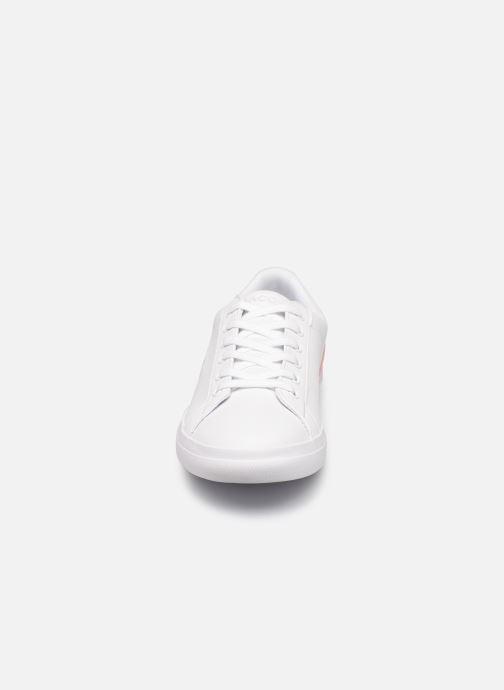 Baskets Lacoste LEROND 0120-1 Blanc vue portées chaussures