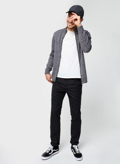 Vêtements Lacoste Pull ML Classique Croco Noir vue bas / vue portée sac