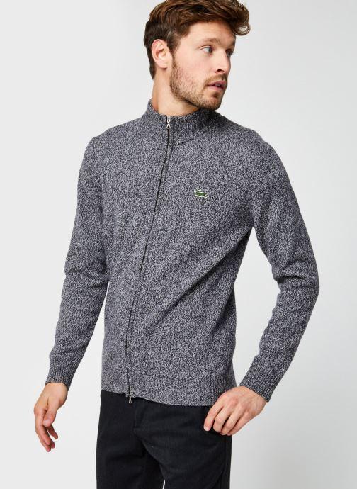 Vêtements Lacoste Pull ML Classique Croco Noir vue droite