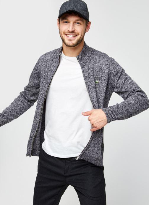 Vêtements Lacoste Pull ML Classique Croco Noir vue détail/paire