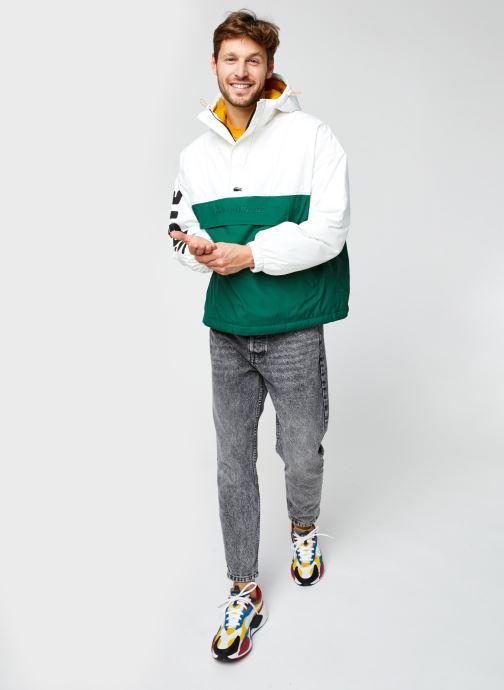 Vêtements Lacoste Vareuse Croco Blanc vue bas / vue portée sac