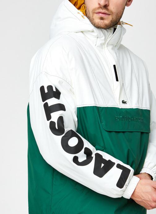 Vêtements Lacoste Vareuse Croco Blanc vue face