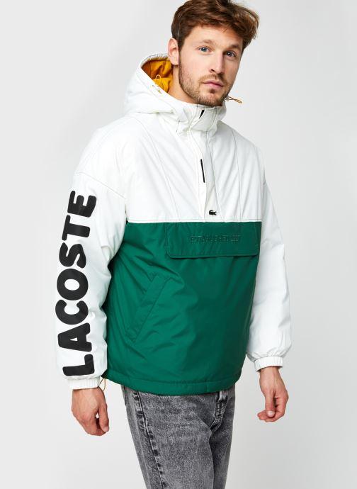 Vêtements Lacoste Vareuse Croco Blanc vue droite