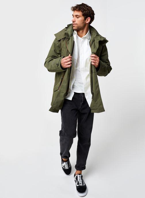 Vêtements Lacoste Parka Croco Vert vue bas / vue portée sac