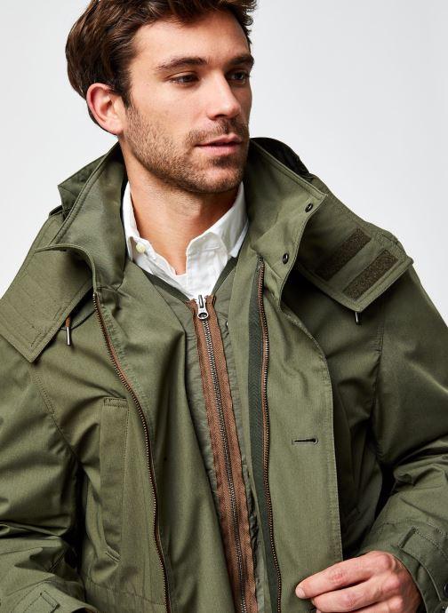 Vêtements Lacoste Parka Croco Vert vue face