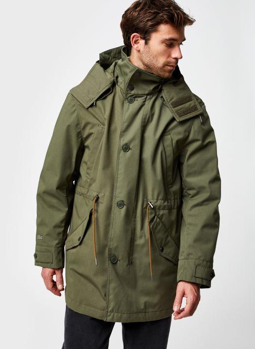 Vêtements Lacoste Parka Croco Vert vue droite
