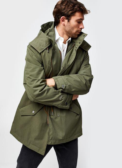 Vêtements Lacoste Parka Croco Vert vue détail/paire