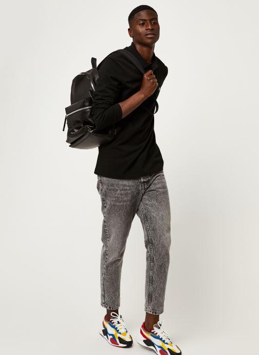 Vêtements Lacoste Polo Classique ML L1312 Croco Noir vue bas / vue portée sac