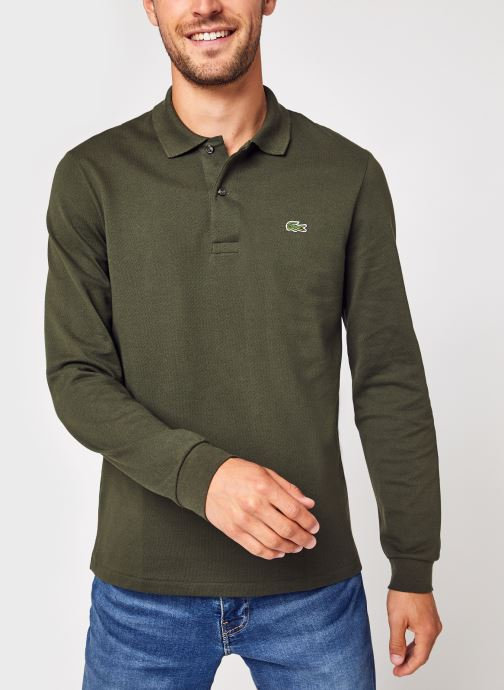 Vêtements Lacoste Polo Classique ML L1312 Croco Vert vue détail/paire