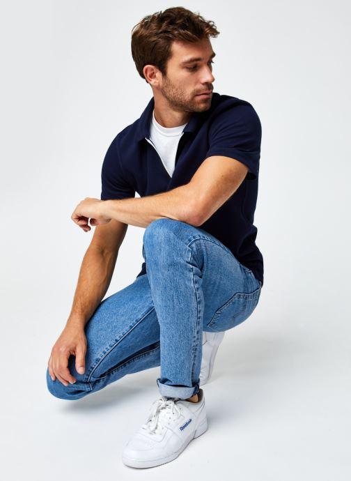 Vêtements Lacoste Polo Contrasté MC Croco Bleu vue bas / vue portée sac