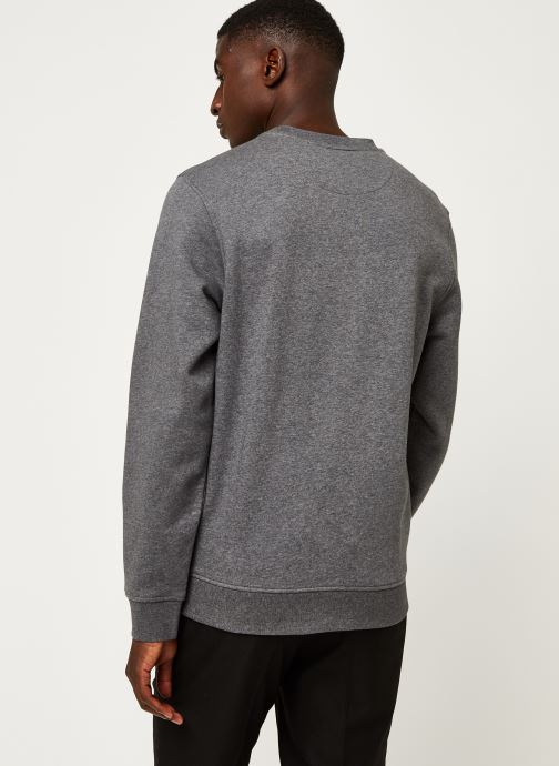 Vêtements Lacoste Sweatshirt ML Croco Gris vue portées chaussures