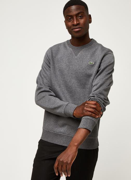 Vêtements Lacoste Sweatshirt ML Croco Gris vue droite